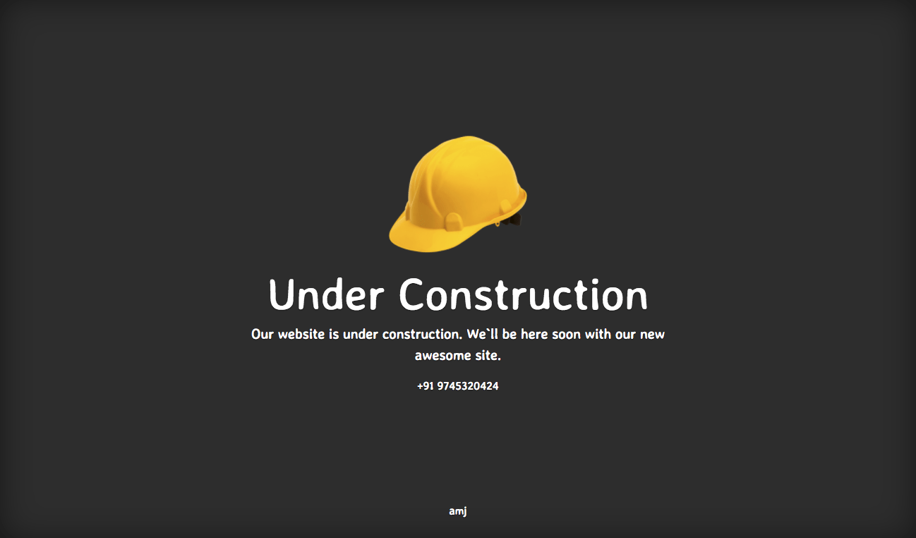 Under construction template choice image template design for Simple under construction html template